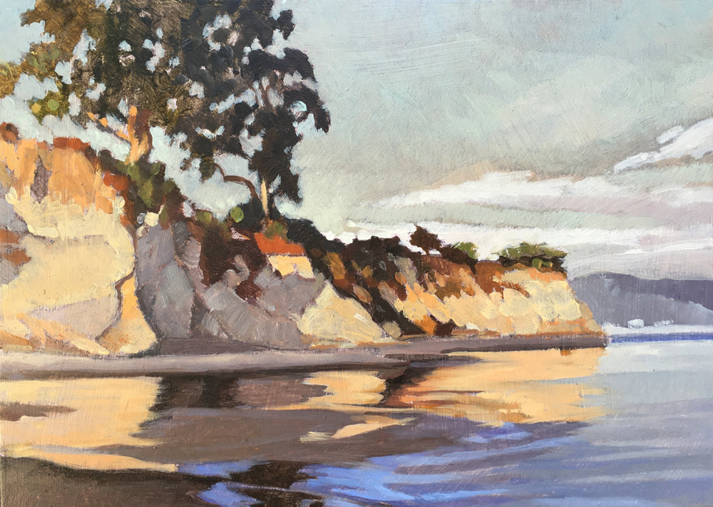 Shoreline Tones 5x7, oil on board,  available at artist studio  SOLD