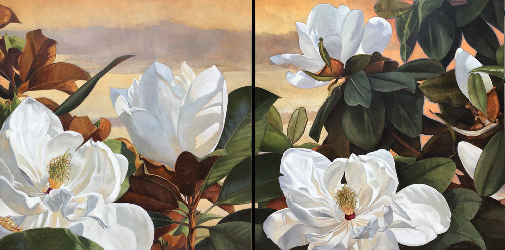 Magnolia Dreams (comission) 24x48, at artist studio
