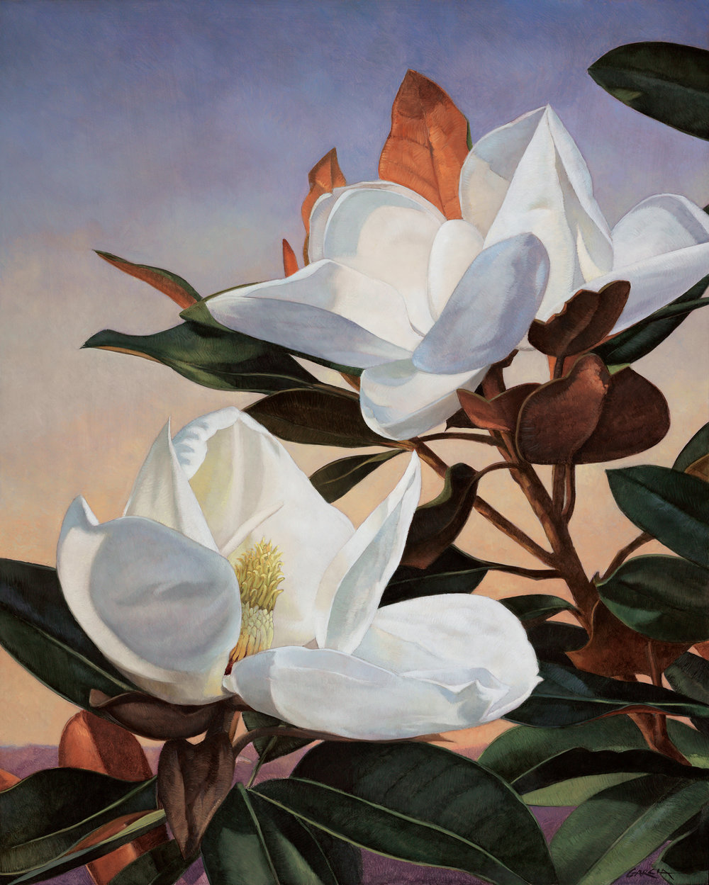 Magnolia Dreamscape, 30x24, oil on board. available at  Waterhouse Gallery