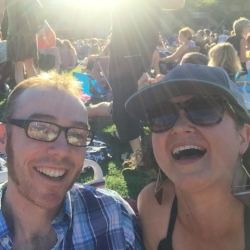 Enjoying a zoo concert. Pure Joy!