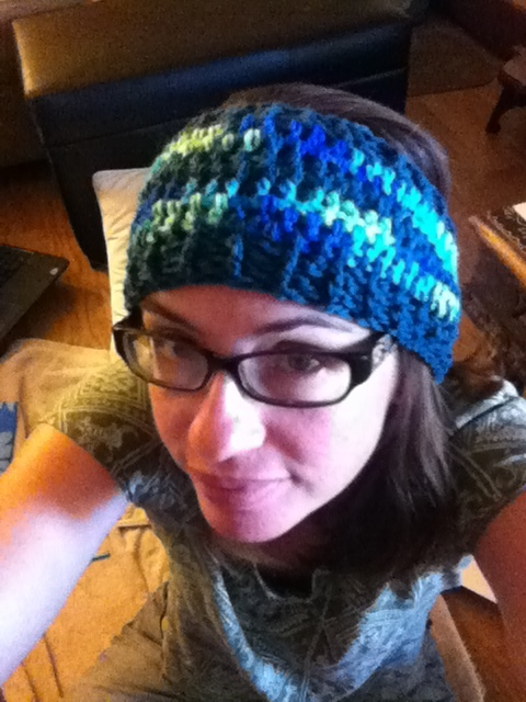 I crocheted this ear warmer all by myself!