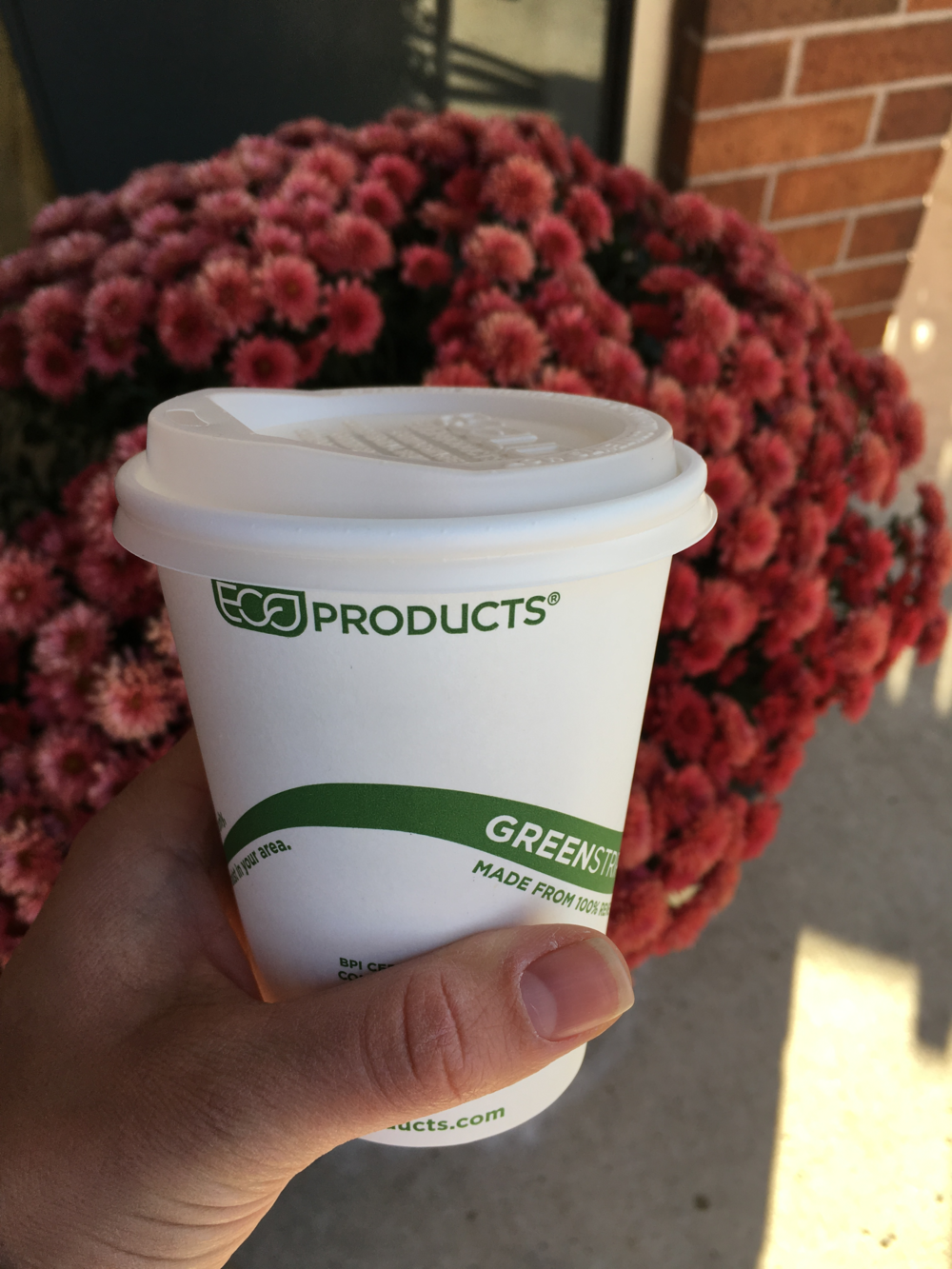 """By lining our cups with renewable polylactic acid (PLA), we've created cups that break down in a commercial compost facility and return to the Earth, leaving nothing but life-giving compost as a legacy"""