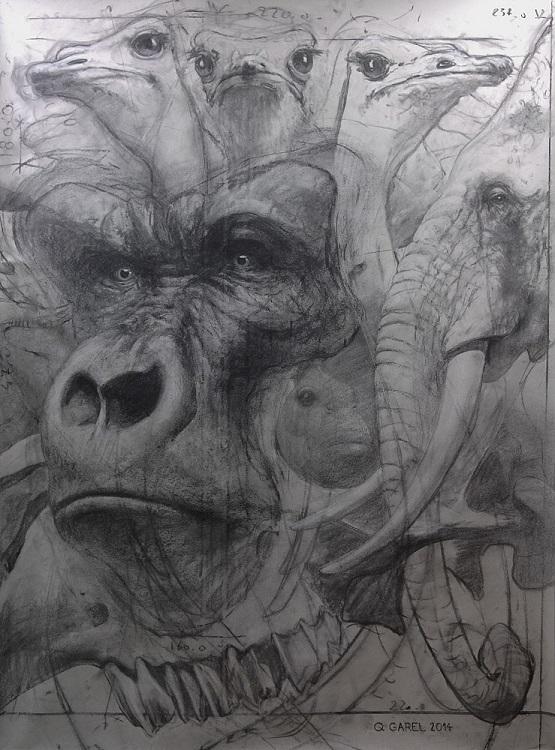 Palimpseste IX (Gorille)