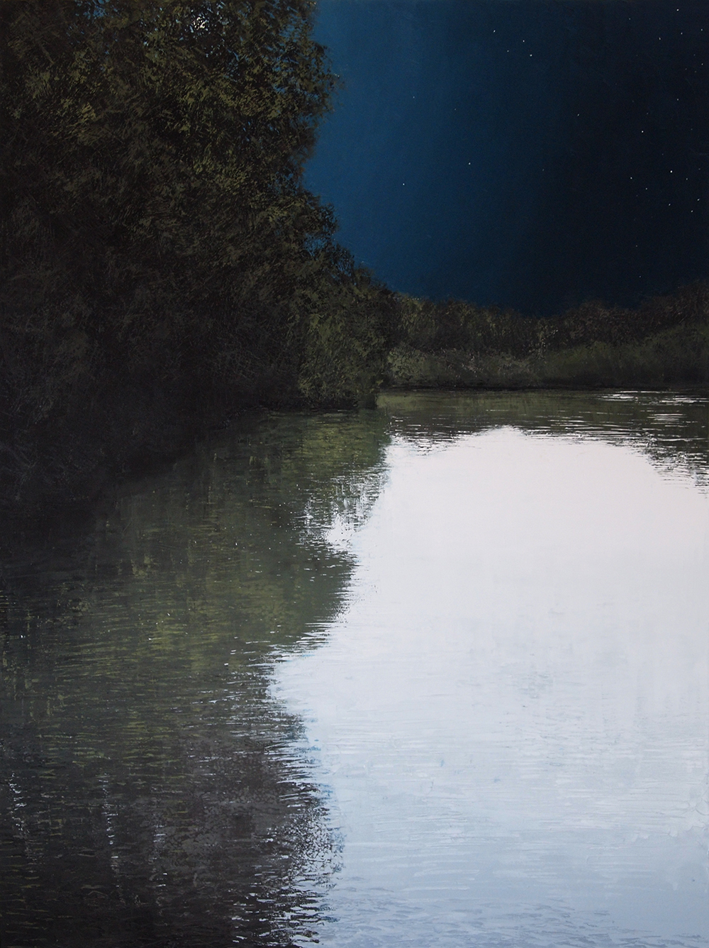 """La Riviere, Les Etoiles, oil on canvas 63"""" x 45 3/4"""