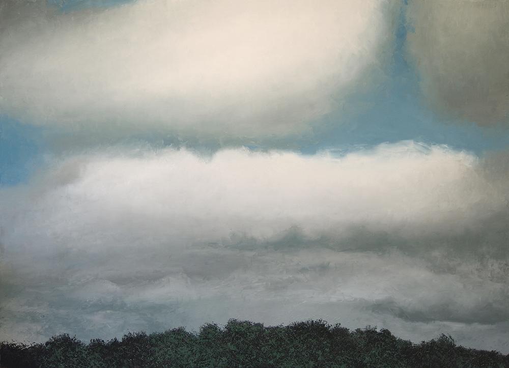 "Stratus Nebulosus, oil on canvas 43 3/4"" x 63"""