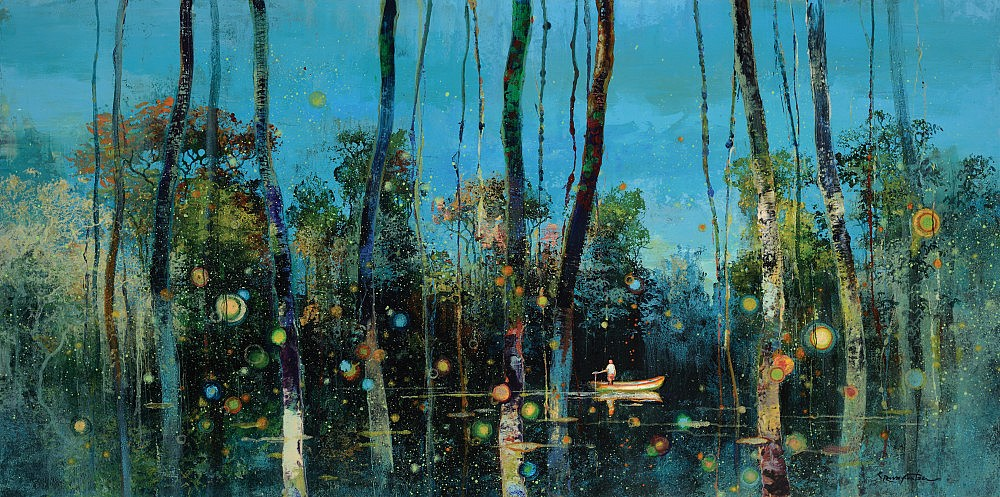 "Voodoo Swamp , limited edition print, 48 1/2"" x 23 1/2"""