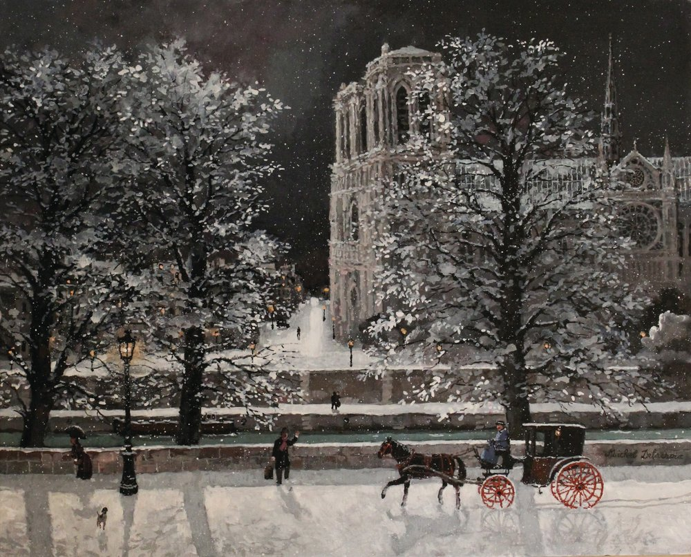 Nuit de neige sur Notre-Dame