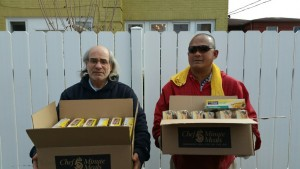 HAVEN OF MERCY receiving meal kits