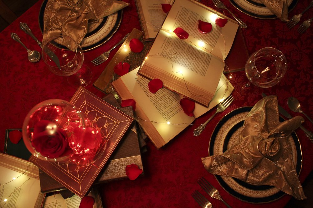 DesignOrganizeParty_Beauty and the Beast_Dinner_Party_Table_Bird Eye
