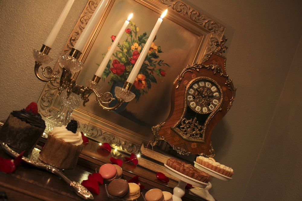 DesignOrganizeParty_Beauty and the Beast_Dinner_Party_Dessert_Pastries_Cogsworth_Lumiere