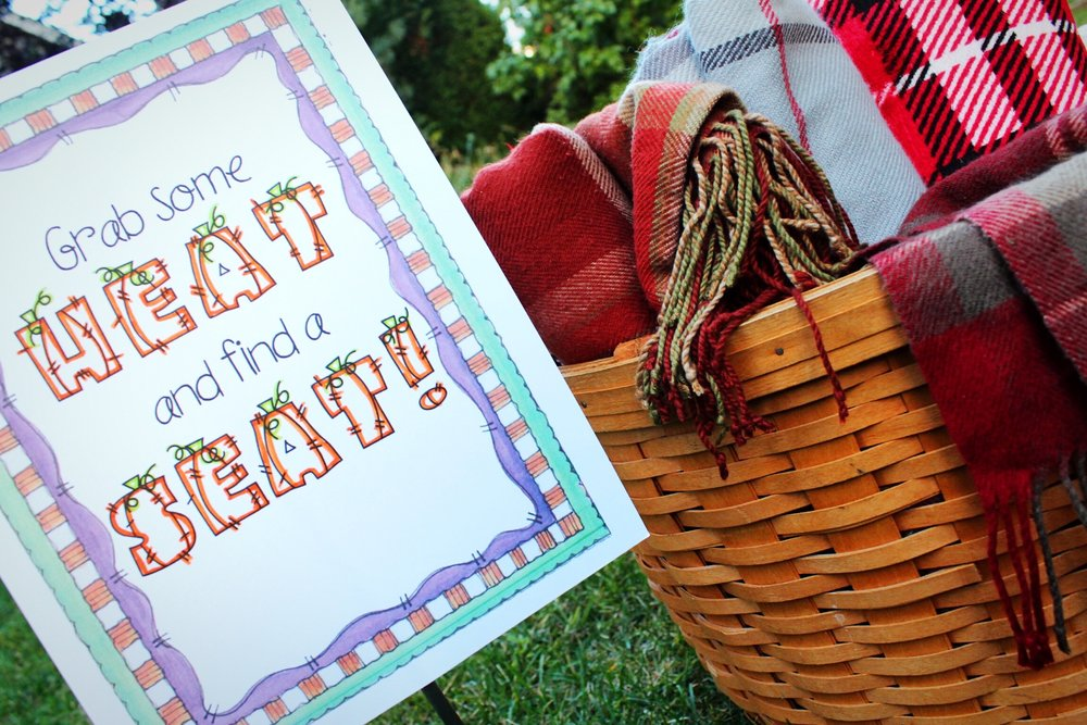 Outdoor Halloween Movie Night Blanket Seating Basket Sign Design Organize Party.jpg