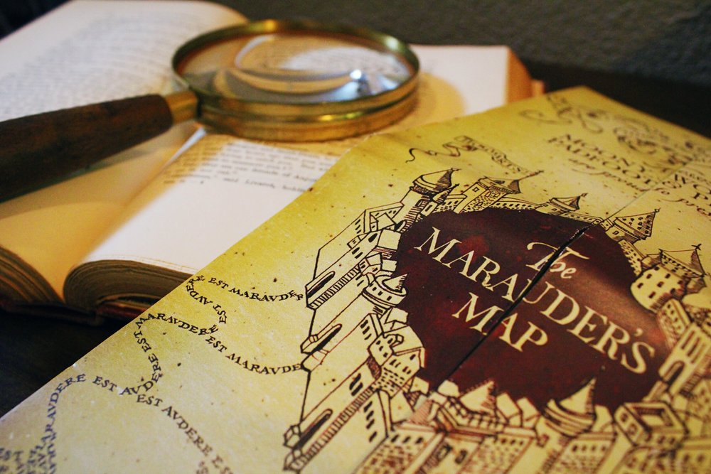 Harry potter party_marauders map_design organize party.JPG