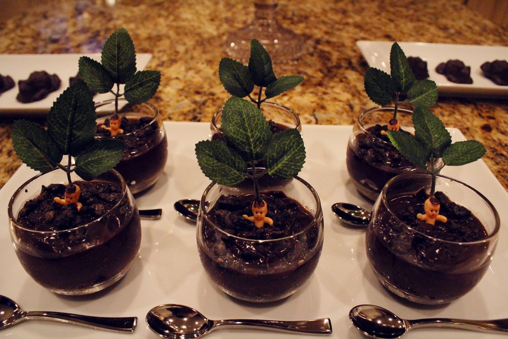 design organize party_potted mandrakes_harry potter party_dirt cups.JPG