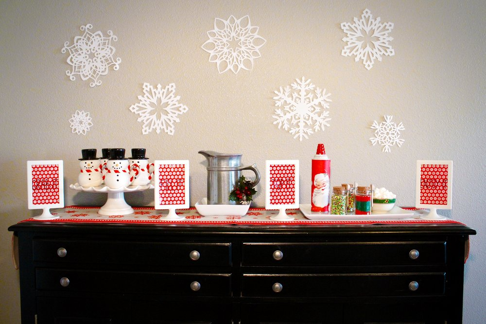 Hot Chocolate Cocoa Bar Party Design Organize Party Snowflake Backdrop Cricut.jpg