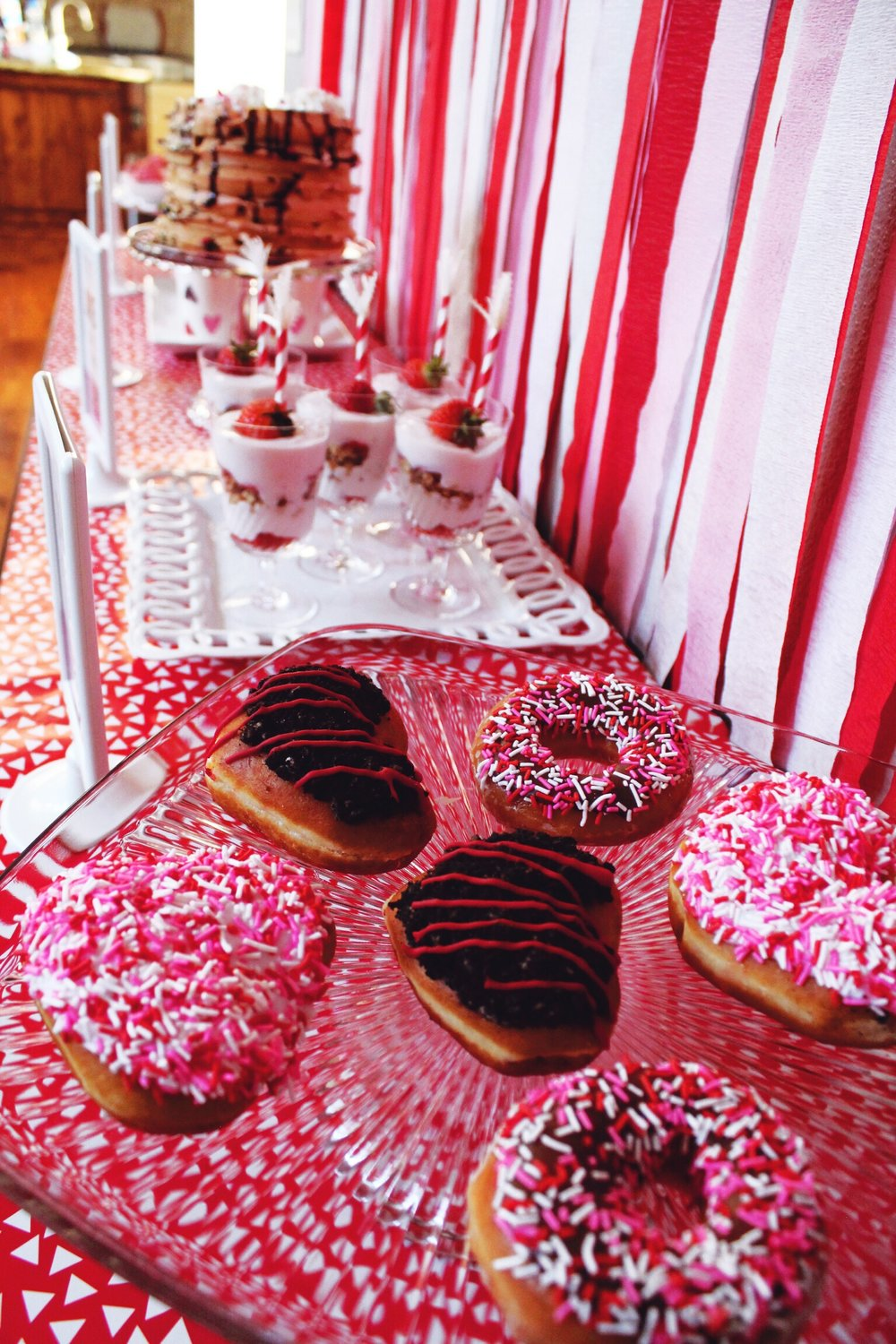 Valentine's Day Breakfast Pink Red Party Inspiration_Donuts_Krispy Kreme_Design Organize Party.JPG