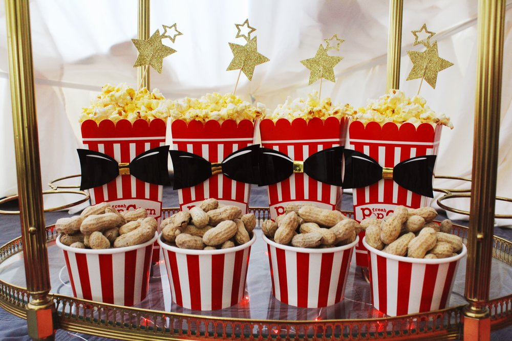 The Greatest Showman Movie Party_Bar Cart_Food Ideas_Circus Tent_Popcorn_Peanuts.JPG