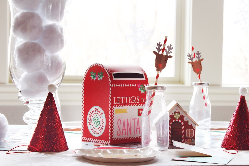Letters to santa Mailbox_Kids Party Table Christmas_Reindeer_Snowballs_Design Organize Party.jpg