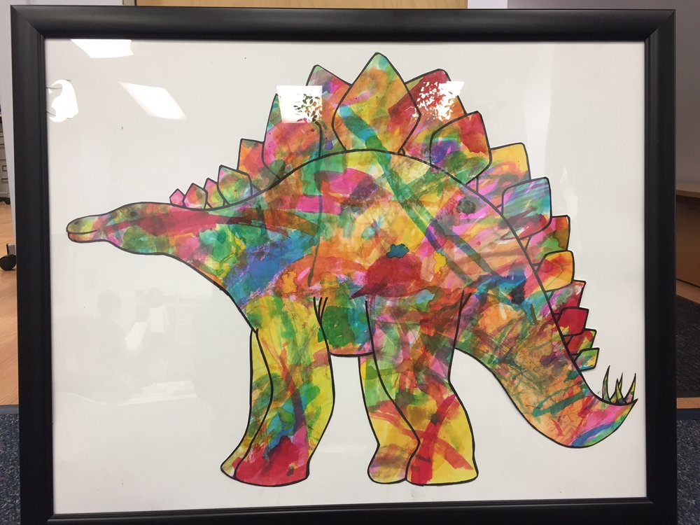 Watercolor Stegosaurus