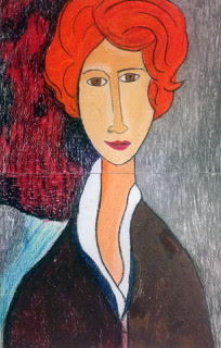Artwork Inspired by Modigliani