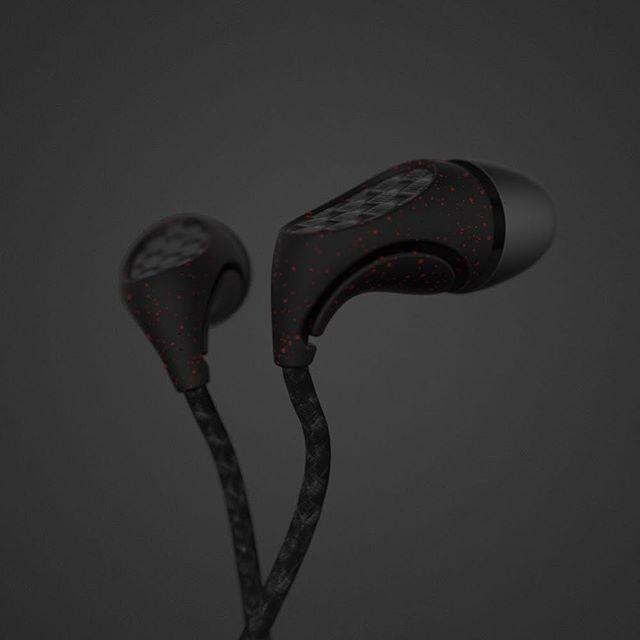 Headphones #dark #speckle #industrialdesign #headphones #earphones #sound #rhino #keyshot #photoshop #design