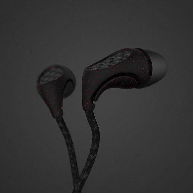 Headphones #dark #speckle #industrialdesign #headphones #earphones #sound #rhino #keyshot #photoshop #design