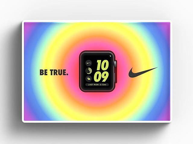 #BETRUE // Full project on behance, link in bio #rainbow #swoosh #nike #packaging #industrialdesign #applewatch #apple