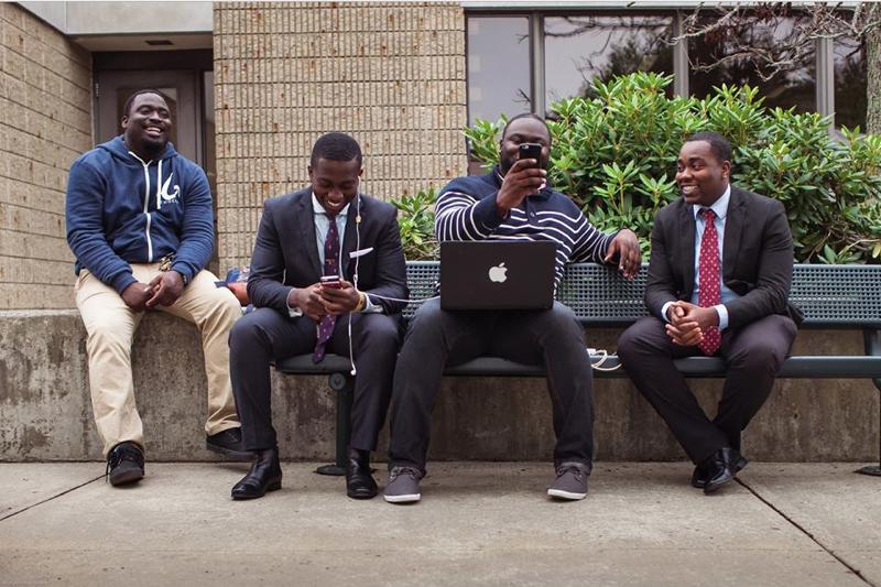 The Men of NEWGENN (from l. to r.): Junior, Emmanuel, Justice & Samuel