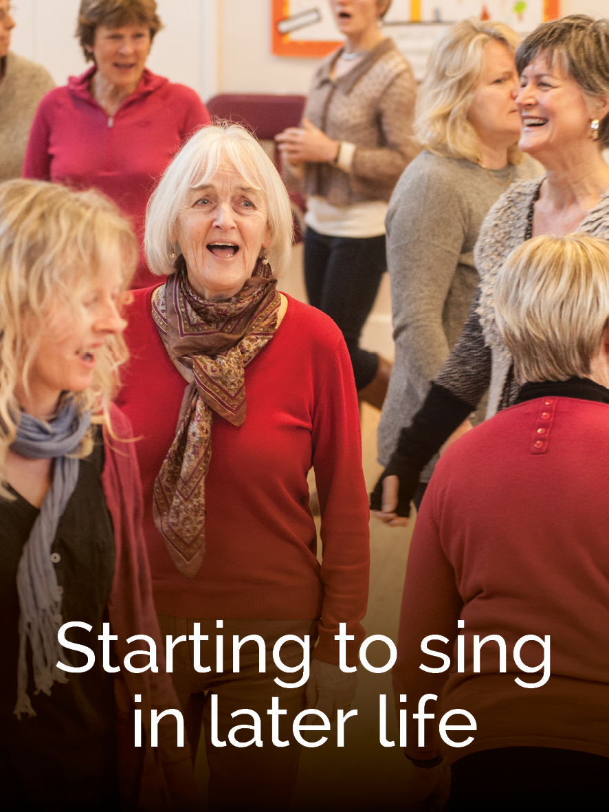 Starting to sing in later life
