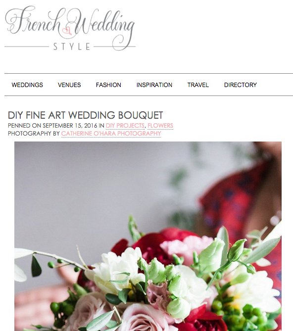 Avec Weddings & Events DIY Fine Art Wedding Bouquet English speaking wedding planner in Paris, France