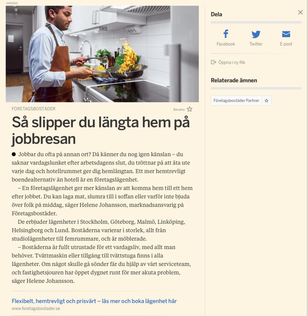 Annonsbild tagen från Omni.se