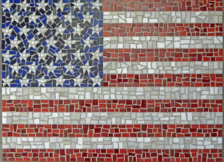 Mosaic American Flag