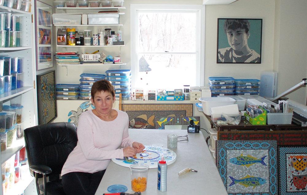 Nanci in her studio