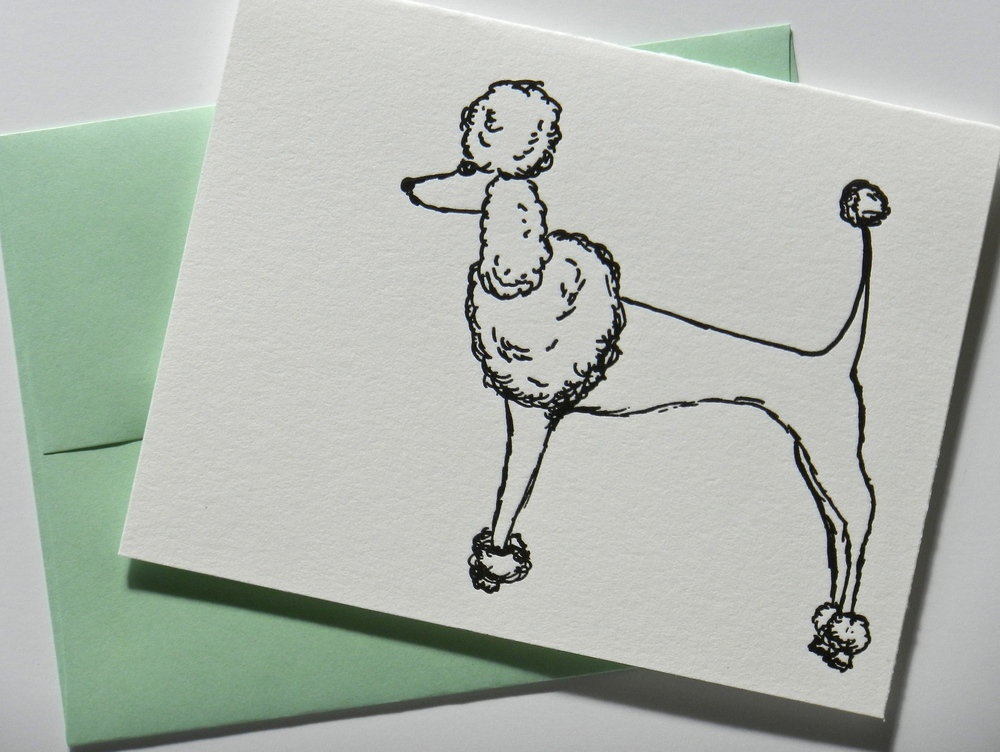 Poodle Card