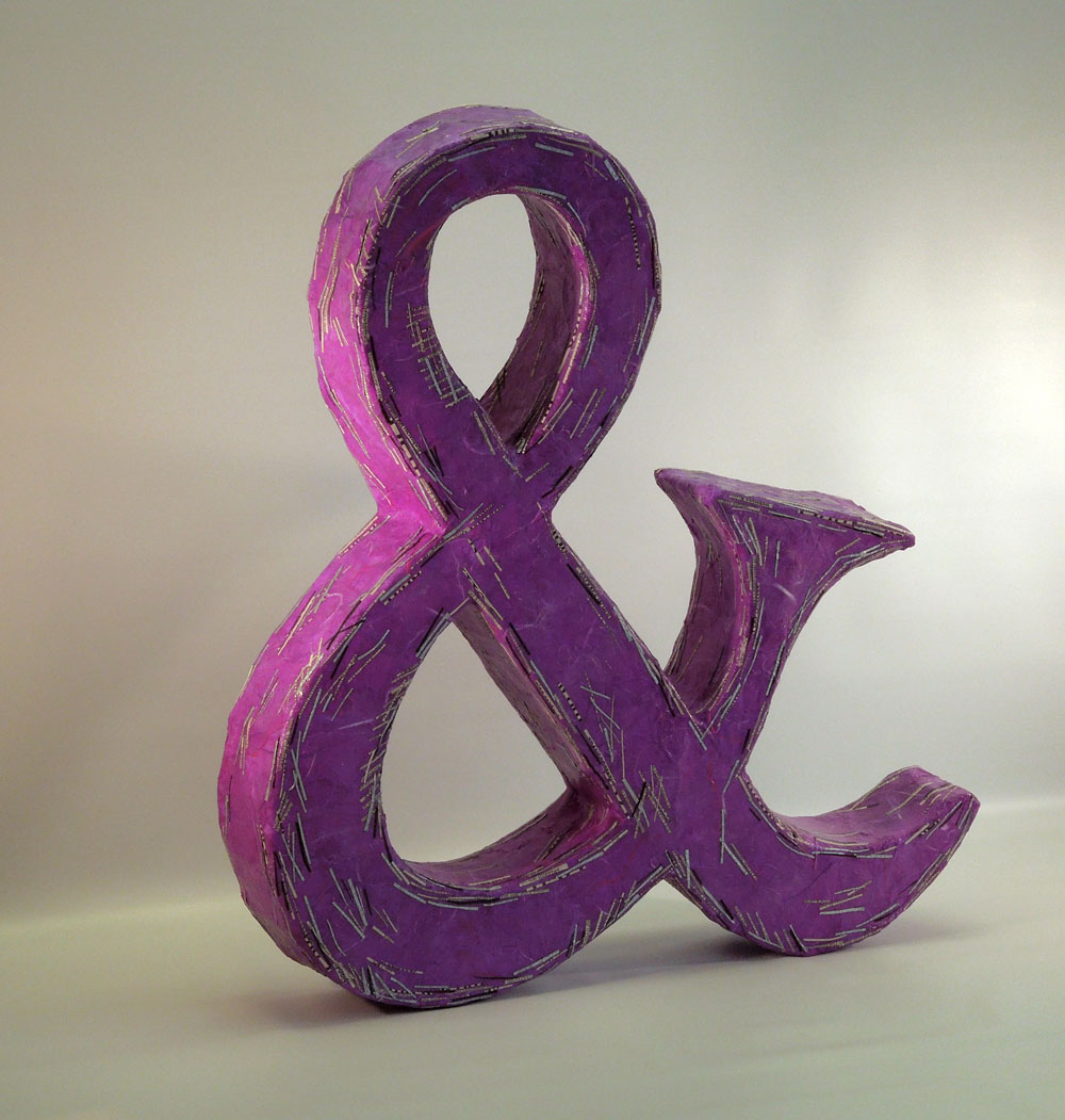 Ampersand Icon - annealed steel, papers