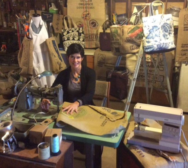 Beth in her Workshop