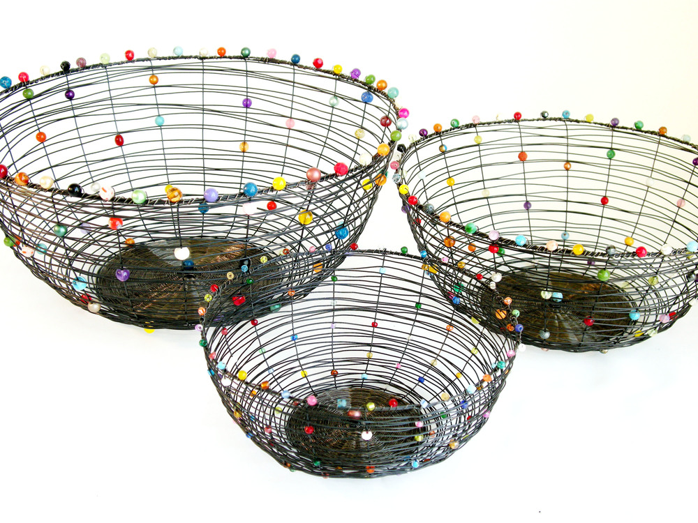 Nest Baskets, assorted sizes, stainless steel or annealed steel