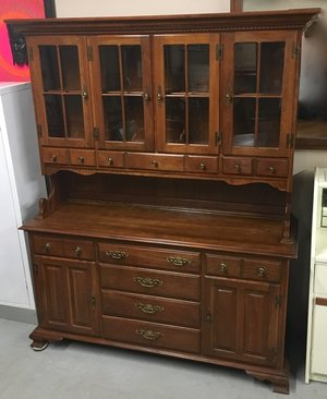 Harden Solid Cherry Wood Dining Room China Cabinet Hutch