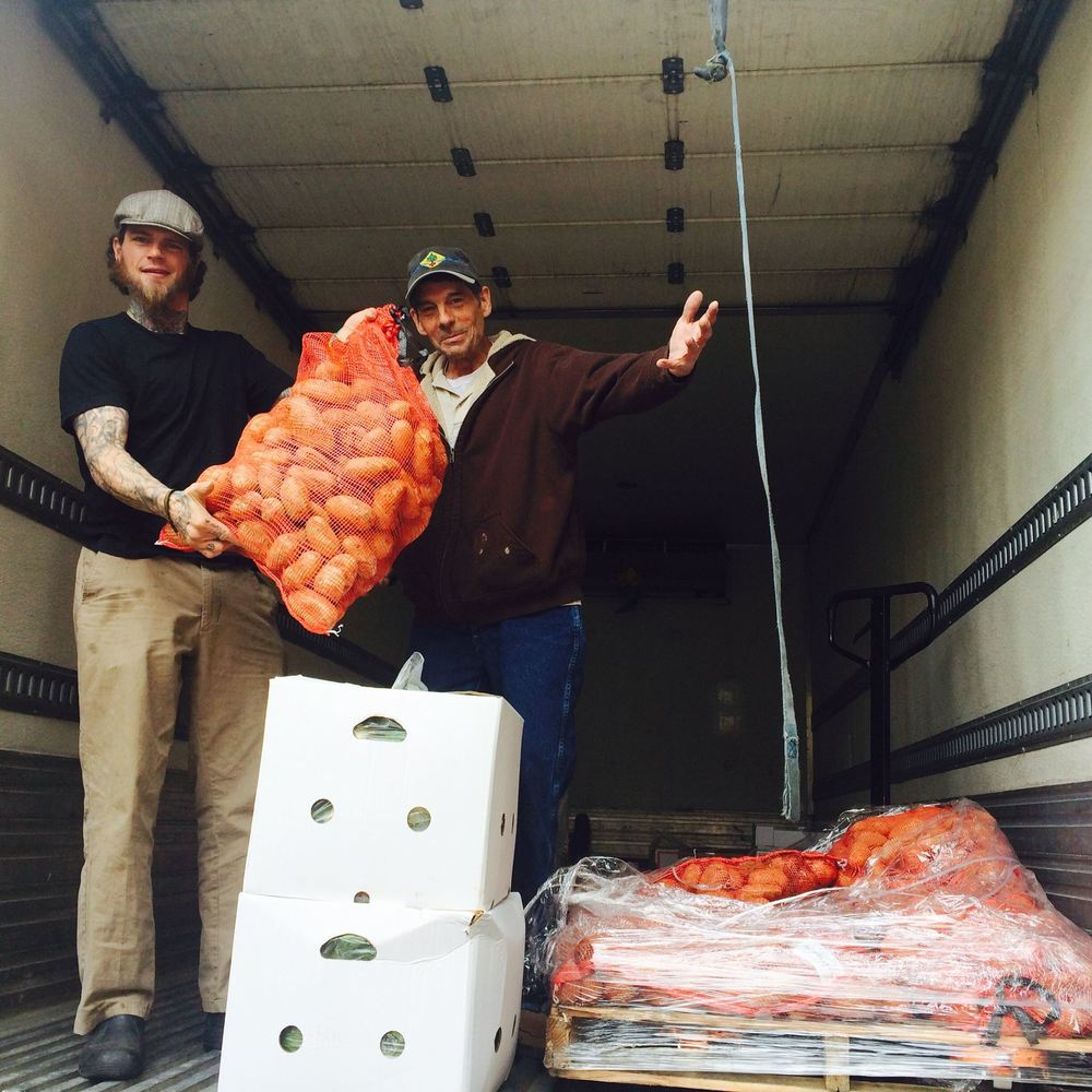 A casual 700 pounds of Colorado-grown potatoes being distributed to our local partners at Seeds Community Cafe.