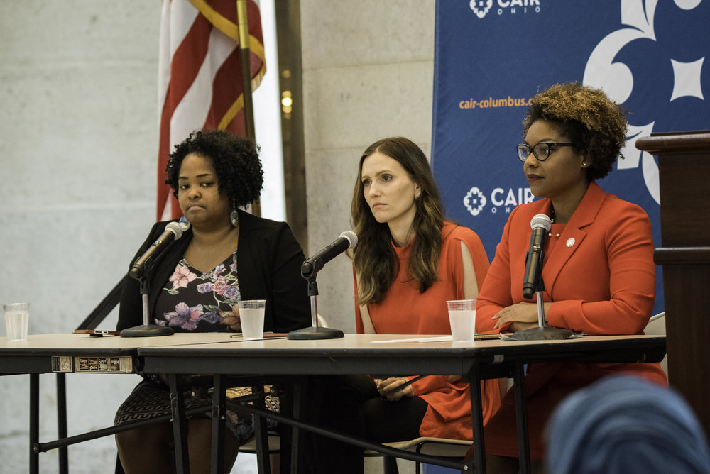 Panel with Ohio Representative Stephanie Howse, Ohio Representative Emilia Sykes, and Columbus City Council Member Elizabeth Brown.