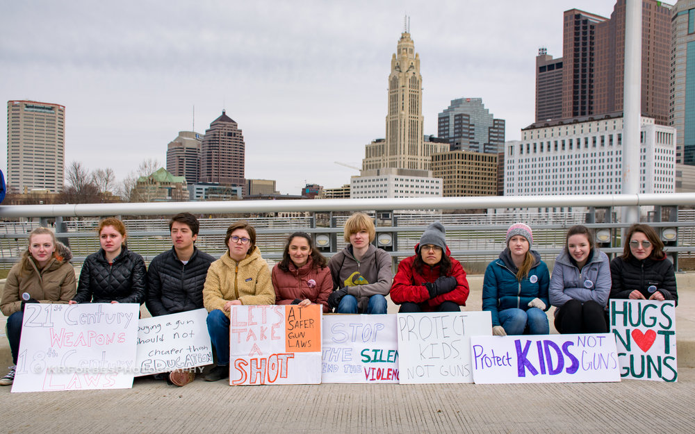 #March4OurLives - Columbus community members shut down downtown Columbus, OH demonstrating in favor of common sense gun control following the Parkland, Florida school shooting on 02/14/2018click image to view more