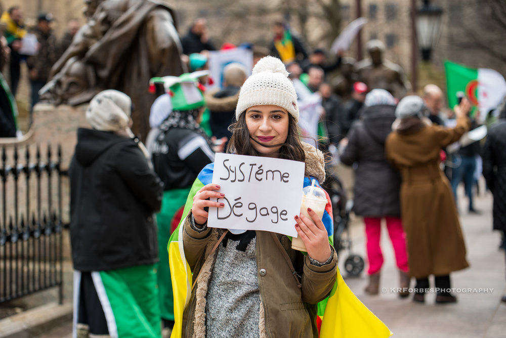 No 5th Term - Algerian-Americans gathered in opposition of president Abdelaziz Bouteflika running for an unprecedented FIFTH termimages from the Ohio Statehouse Columbus, OHclick image to view more
