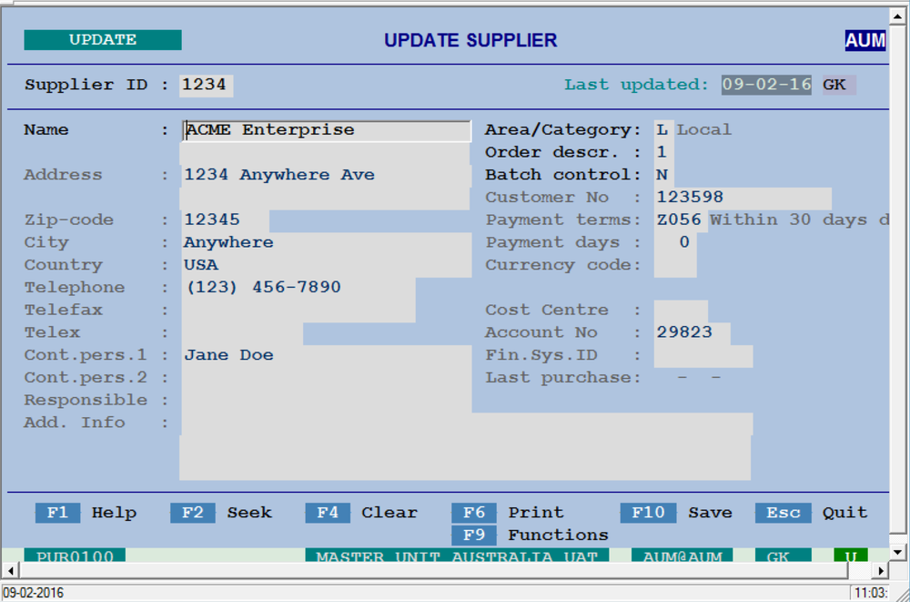 A dated layout gave little indication to user as to the vital details of the vendor they were currently viewing.