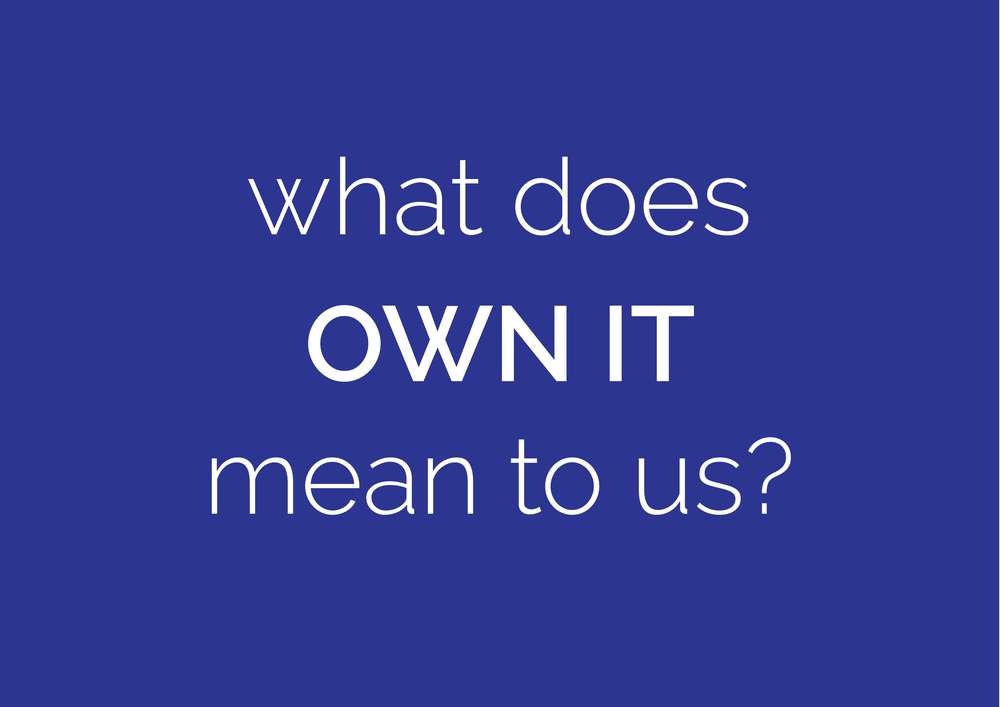 what does own it mean