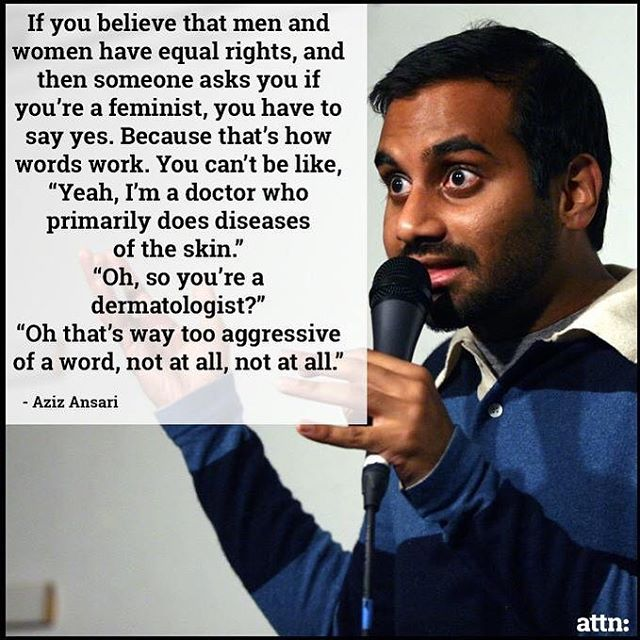 @azizansari couldn't have said it any better 👏🏼 Photo credits: @attndotcom