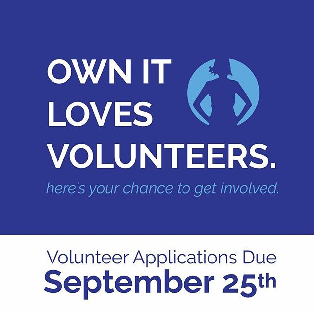 Have a chance to help put on OWN IT! It's a great opportunity to get involved! Application link in profile #ownit #empowerment