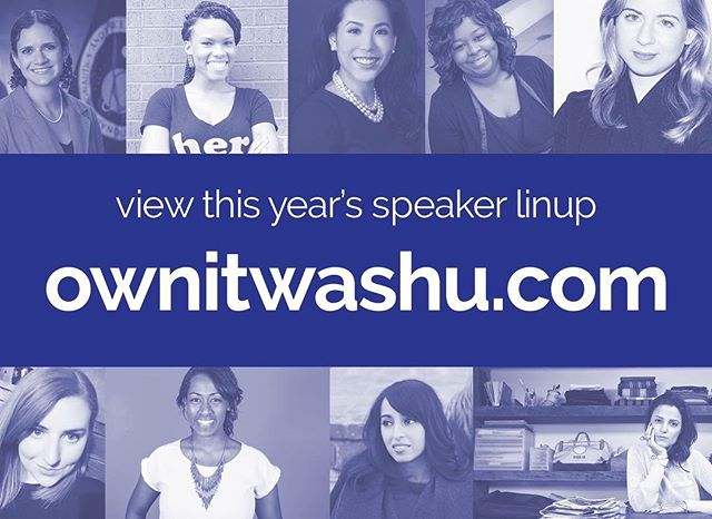 Check it out! We are so excited to announce our wonderful panelists for this year's OWN IT!!