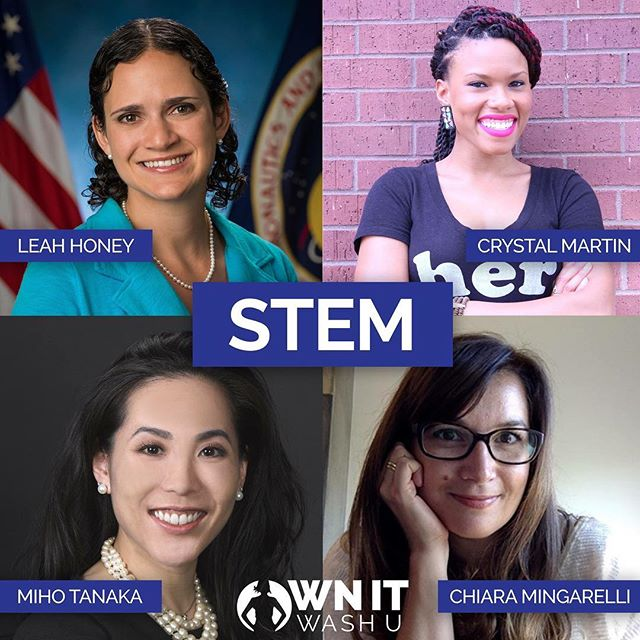 Meet our out-of-this-world STEM panelists! Learn about their fascinating experiences and get excited to meet them at OWN IT!  Leah Honey is a Flight Controller for the International Space Station (ISS) working for Lockheed Martin, a NASA contractor at Johnson Space Center in Houston.  Dr. Chiara M. F. Mingarelli is a gravitational-wave astrophysicist, currently based at the Max Planck Institute for Radio Astronomy, where she holds a Marie Curie Fellowship.  Crystal Martin is the CoderGirl Program Director at LaunchCode. She first came to St. Louis in 2010 for Teach for America and taught middle school math for four years.  Dr. Miho Tanaka is the Director of the Women's Sports Medicine Program and Assistant Professor of Orthopaedic Surgery at The Johns Hopkins Hospital.