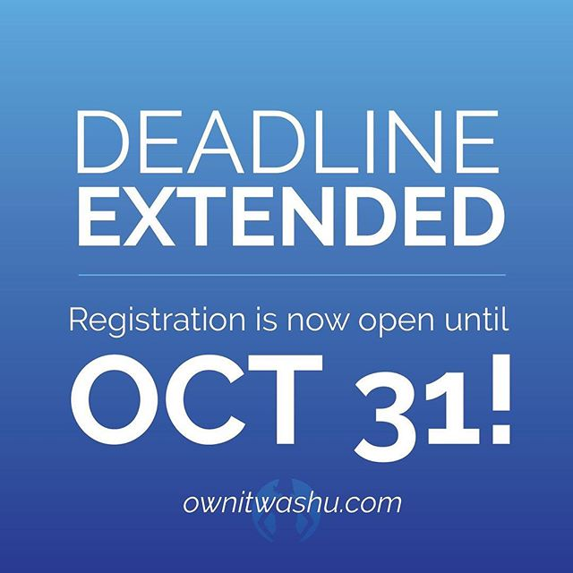 We've listened to your feedback, and are happy to announce that the registration deadline has been extended! Remember to register (link in profile)