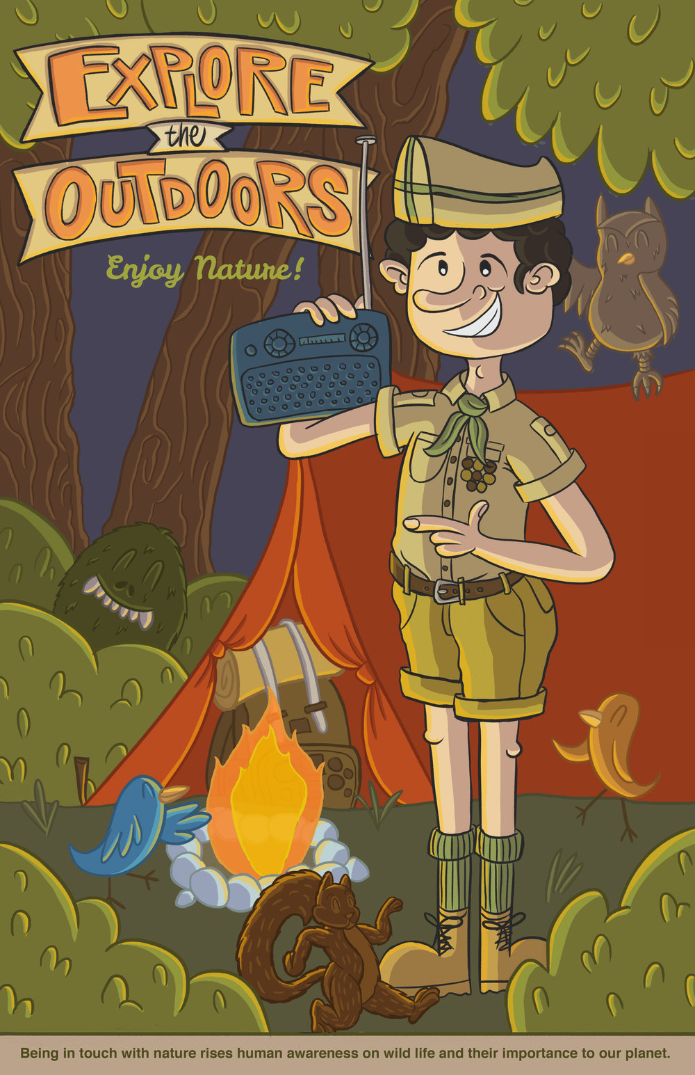 EXPLORE THE OUTDOORS POSTER