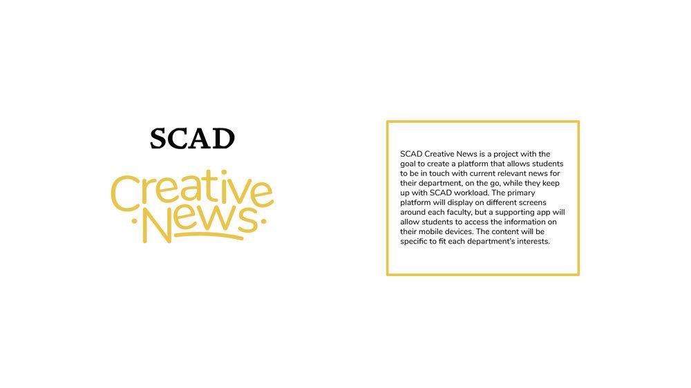 SCAD Creative News App